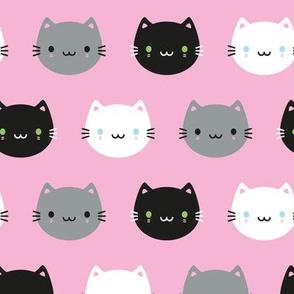 Cute Cats & Kawaii Kittens (Pink)