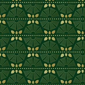 Emerald Art Deco Fan