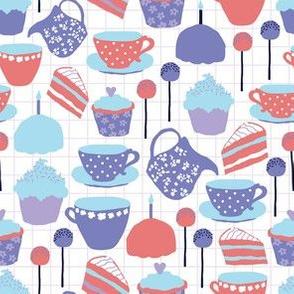 Tea and Cake purple