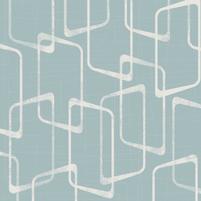 Retro Rounded Rectangles in Soft Dusty Blue