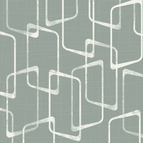 Gray Green Mid Century Modern Pattern