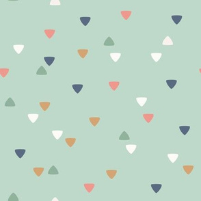Cute Bohemian Friends - geometric triangles - mint