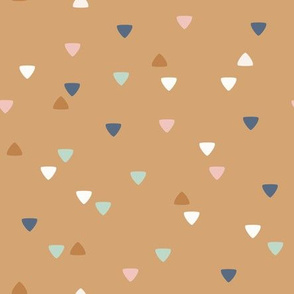 Cute Bohemian Friends - geometric triangles - gold