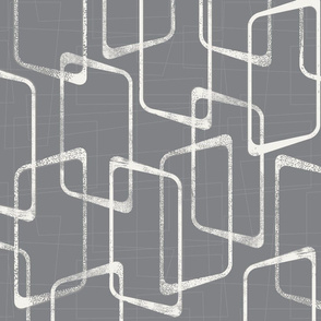 Retro Medium Gray Geometric Pattern