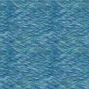 crosshatch-teal blue