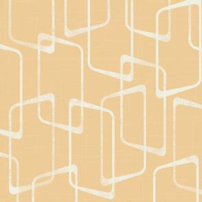Soft Gold Retro Geometric Pattern