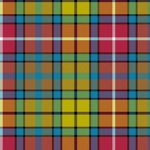 "Buchanan Ancient tartan - 6"" red/yellow/brown/teal variant"