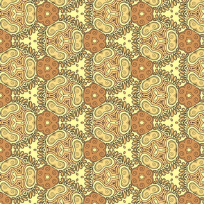 Joyful yellow kaleidoscope
