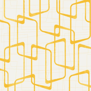 Reverse Retro Yellow Geometric Pattern