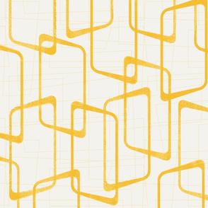 Reverse Retro Yellow Geometric Pattern