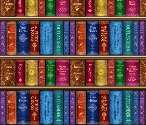 Thru The Stones Bookshelf - small fabric by sssowers on Spoonflower - custom fabric