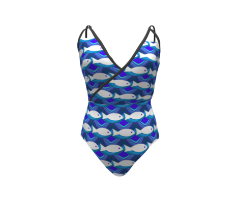 Swim Lil Fishy Swim / blues