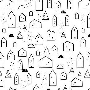 Maisons (white background)