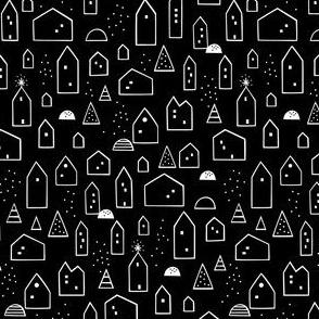 Maisons (black background)