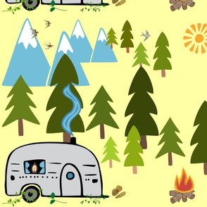 camper in yellow