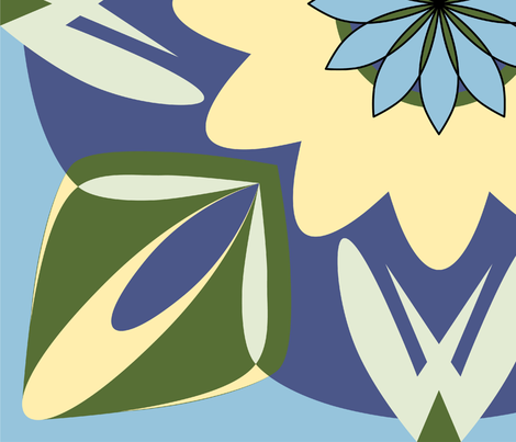 Flora and Spike Design 2 fabric by reannalilydesigns on Spoonflower - custom fabric