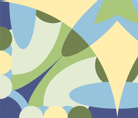 Solar System Design - 3 fabric by reannalilydesigns on Spoonflower - custom fabric