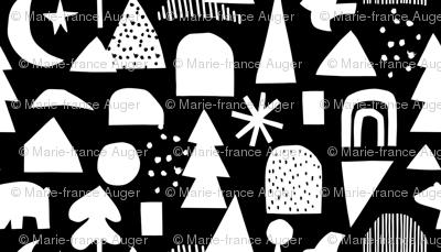 geometric christmas (black background)
