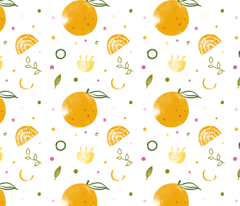 orange party fabric by adelinewang on Spoonflower - custom fabric