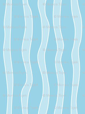 squiggly stripes light blue