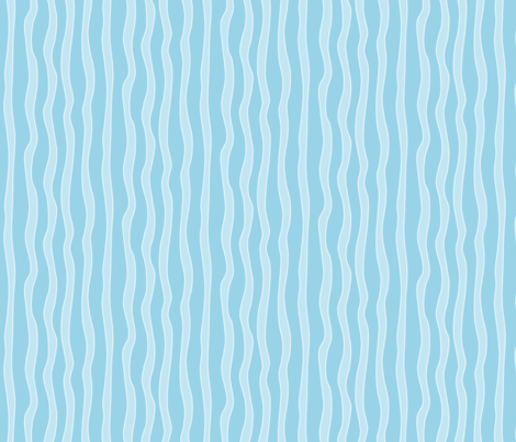 squiggly stripes light blue fabric by lalalamonique on Spoonflower - custom fabric