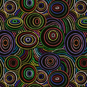 Multicolored rings and circles