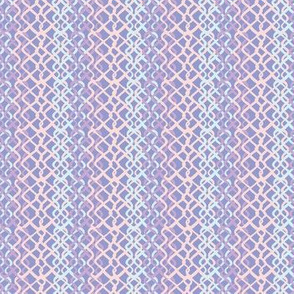 Lilac Abstract Fish Net Loop Pattern