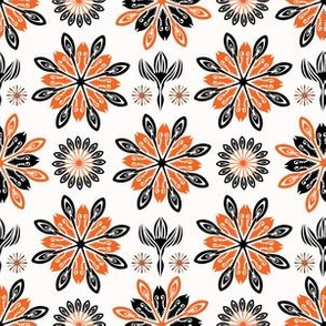 Ethnic Style Folkart Floral Vector Pattern