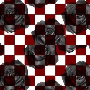 Burgundy and Black Checkerboard