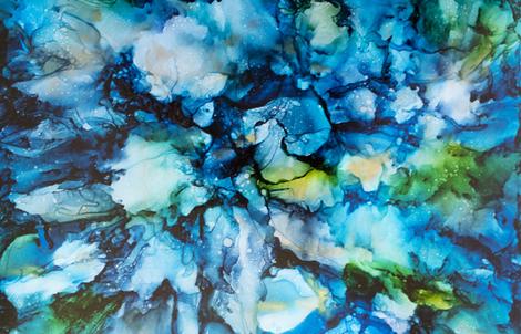 Tsunami fabric by kristen_jasper_fine_art on Spoonflower - custom fabric