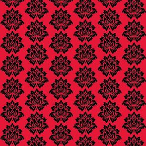 Black Lotus Flower-Red