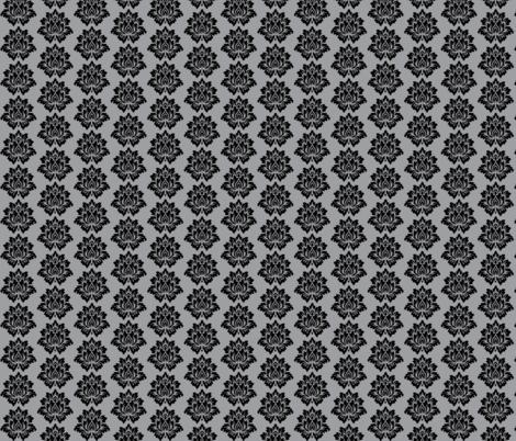 Black Lotus Flower-Grey fabric by black_lotus_boutique on Spoonflower - custom fabric