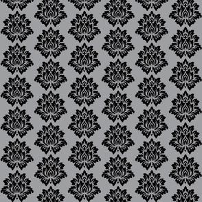 Black Lotus Flower-Grey