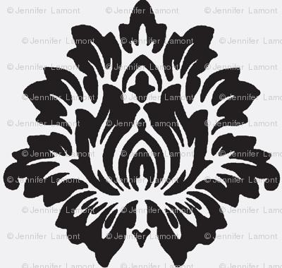 Black Lotus Flower-White