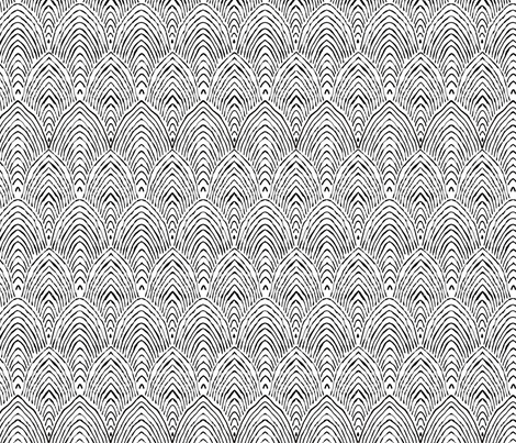 black & white mountains fabric by alison_janssen on Spoonflower - custom fabric