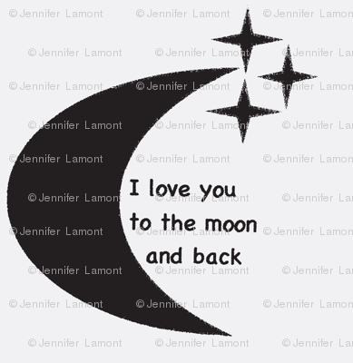 To the moon and back- white