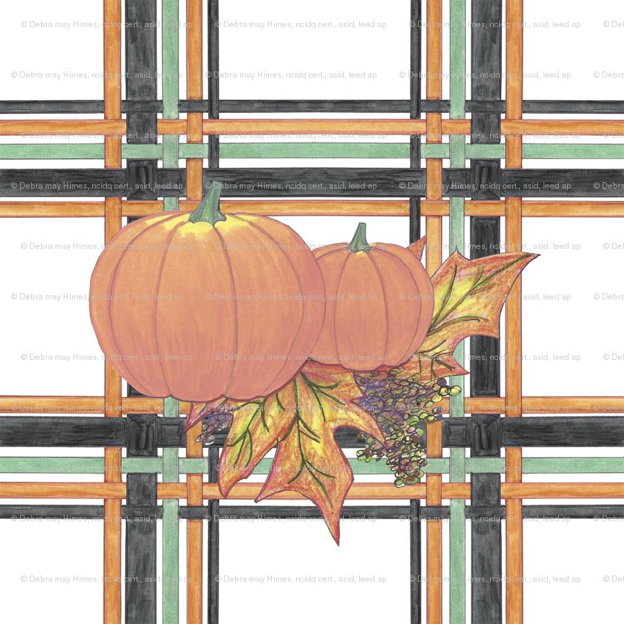 Pumpkins In Plaid Wallpaper Debramayhimesasid Spoonflower