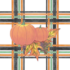 Pumpkins in Plaid