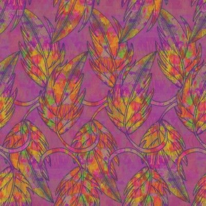 Falling leaves, Purple, Medium