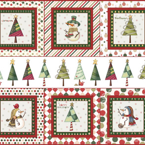 "Christmas panel fabric, 14"" pillow size"