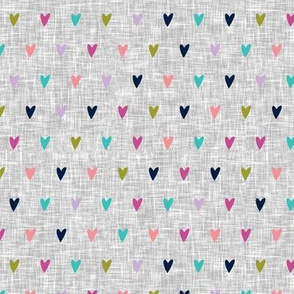 multi hearts || good cheer colorway (light grey) C18BS