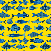 Fish (blue and yellow)