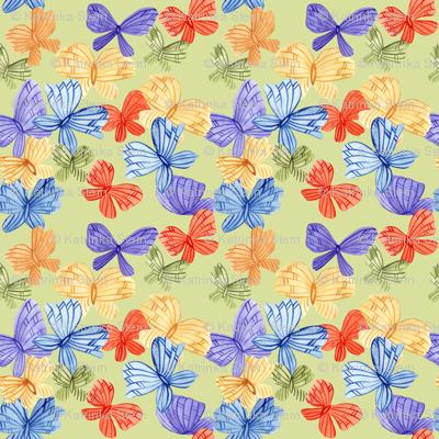 Color Watercolor Butterflies