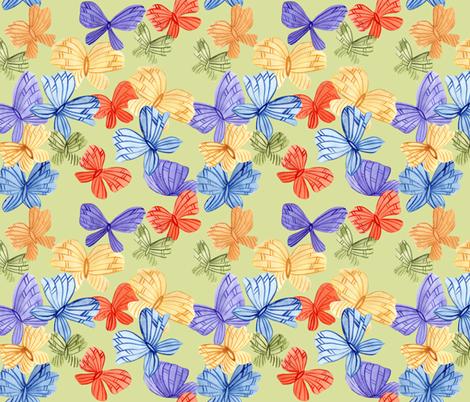 Color Watercolor Butterflies fabric by katrinkastem on Spoonflower - custom fabric