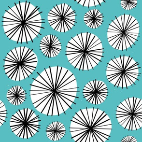 Floral circles light blue