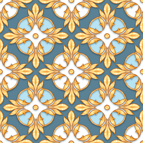 Luxury pattern fabric by gribanessa on Spoonflower - custom fabric