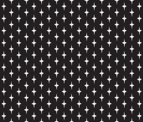 Mid Century Mod-Black fabric by black_lotus_boutique on Spoonflower - custom fabric