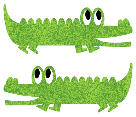 Alligator Roll Call Stuffy fabric by gumbo_gator on Spoonflower - custom fabric