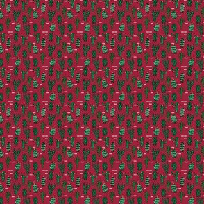 MINI MICRO - christmas cactus // cute christmas xmas fabrics best christmas red and green fabrics