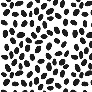 black and white spots